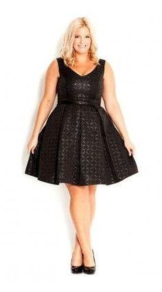 Little Black Dress Plus Size Dress - City Chic Vestidos Plus Size, Plus Size Dresses, Plus Size Outfits, Image Fashion, Look Fashion, Womens Fashion, Look Plus Size, Plus Size Women, Curvy Girl Fashion