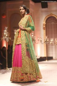 Lengha by Preeti S Kapoor at AVIBFW 2013