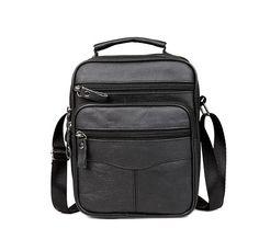2017 New Fashion  Genuine  Leather Man Bag Men's Messenger Bag High Quality Black Square Section Vertical Shoulder Bag Business #shoes, #jewelry, #women, #men, #hats, #watches, #belts