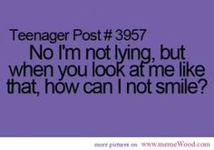 Omg I HATE when people think I'm lying because I'm smiling!!!!!!!!