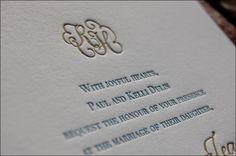 Inexpensive Letterpress Wedding Invitations