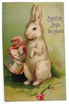 Vintage Easter card...1909...     via pinterest