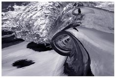 """""""Platinum Motion"""" #SurfArt by Scott Carter. """"I am so drawn to these miniature waves that I spent a good part of 5 years trying to capture them on film. They are mesmerizing to see, and also create an incredible sound akin to a person yelling into a tunnel."""" - Scott Carter, Artist"""