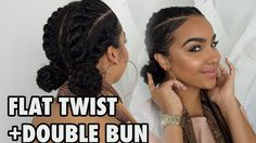 FOR WORK + SCHOOL + GYM Flat Twists with Bun Hairstyle! [Video]  Read the article here - http://blackhairinformation.com/video-gallery/work-school-gym-flat-twists-bun-hairstyle-video/