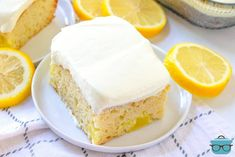 Easy Lemon Dream Cake starts with a boxed cake mix swirled with lemon pie filling. All topped with a creamy, lemony whipped topping! Vanilla Cake Mixes, Lemon Cake Mixes, Köstliche Desserts, Delicious Desserts, Dessert Recipes, Fun Recipes, Party Recipes, Baking Recipes, Thanksgiving Desserts
