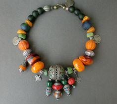 Tagamouth Maroc perle berbère ethnique bijoux par necklacehandmade
