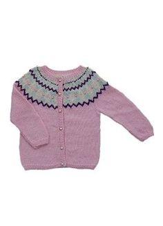 Gratis strikkeopskrift på pige prinsessetrøje