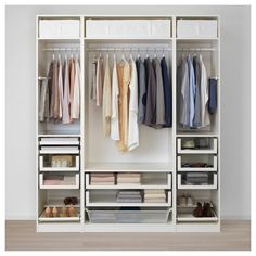 Discover the IKEA PAX wardrobe series. Design your own PAX wardrobe inside and out, from door styles, to shelves, to interior organizers and more. Pax Corner Wardrobe, White Wardrobe, Pax Wardrobe, Wardrobe Storage, Storage Room, Ikea Stolmen, Algot Ikea, Pax System, Bathroom Ideas