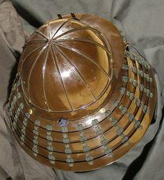 Japanese Helmet; SHINOMINARI KABUTO Momoyama Period. Circa 1580
