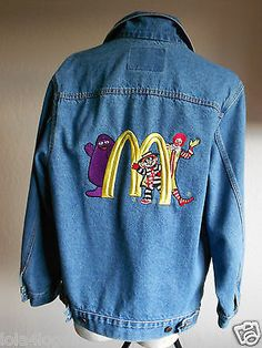 Jean Jacket too cool with McDonald mascots... Grimace, Ronald and Hamburgler love these guys!!