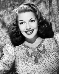 Lana Turner, 1940s what a smile!