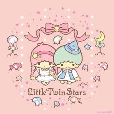 Sanrio: Little Twin Stars:) Sanrio Wallpaper, Star Wallpaper, Hello Kitty Wallpaper, Kawaii Wallpaper, Cute Wallpaper Backgrounds, Cute Wallpapers, Baby Friends, Cute Friends, Sanrio Characters