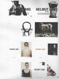 Inside the visible, pylore: Helmut Lang ads, Helmut Lang, Lookbook Design, Anti Fashion, High Fashion, Campaign Fashion, Web Design, Graphic Design, Fashion Advertising, Fashion Sketchbook