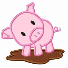 Pig Applique Design Crafts Pinterest