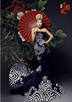 Chinese wind wedding dress (2)