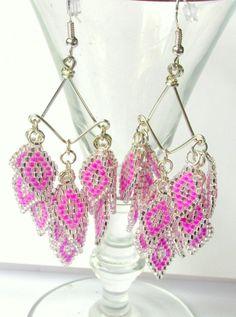 Chandelier Earrings, Beaded ... from SimplyBeadifulDesign on Wanelo