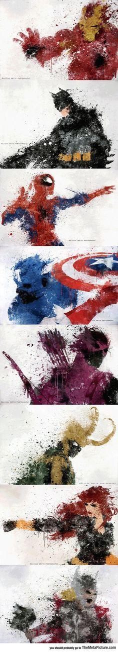 Awesome Splatters Of Superhero Characters