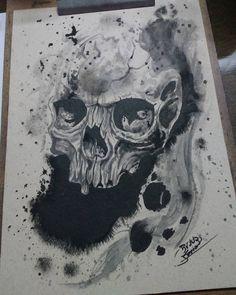 Lost Art, Art Drawings, Fox, Skull, Tattoos, Drawings, 3d Pencil Drawings, Tatuajes, Tattoo