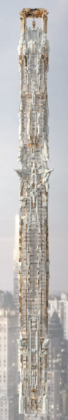 Mark Foster Gage's Manhattan Skyscraper Takes Gothic Architecture to New Heights,© Mark Foster Gage Architects