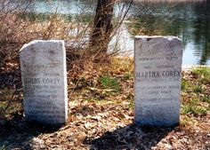 Giles Martha Corey Graves. Located near the family homestead on Crystal Lake in west Peabody