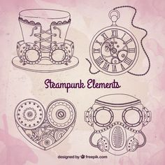 steampunk gears and cogs Diy Steampunk, Steampunk Mechanic, Steampunk Drawing, Steampunk Kunst, Steampunk Cosplay, Bullet Journal Month, Bullet Journal Themes, Steampunk Illustration, Graphic Illustration