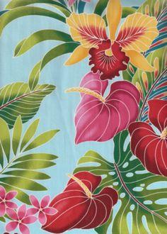 Tropical Hawaiian pattern