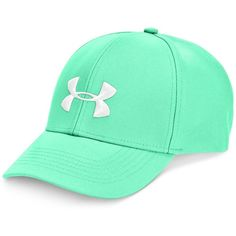 Under Armour Adjustable-Strap Cap ($20) ❤ liked on Polyvore featuring accessories, hats, mint, under armour hat, under armour cap, under armour and caps hats