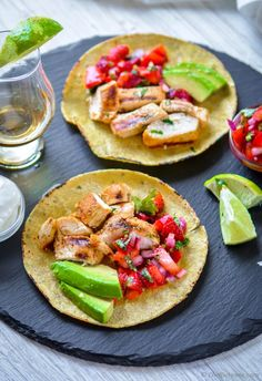 Grilled Tequila Lime Chicken Tacos Recipe | ChefDeHome.com