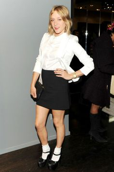 Chloë Sevigny in a different kind of tuxedo.