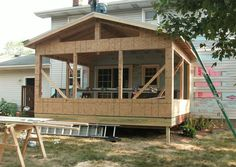 Charming How To Build A Porch With A Sunroom