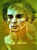 by Jamie Wyeth/ ballet dancer Nureyev, a portrait Jamie Wyeth, Andrew Wyeth, Nc Wyeth, Nureyev, Male Ballet Dancers, Portrait Art, Portraits, Art Archive, Artist Names