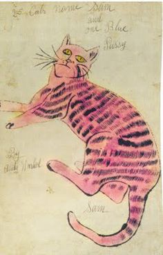 A copy of 25 Cats Name [sic] Sam and One Blue Pussy by Andy Warhol, one of the rarest, most significant, and highly desirable artists books from the 1950s. It is estimated sold for 20,000 - 30,000K.