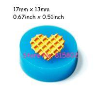 Freies Verschiffen QYL003U Herz Waffeln Silikon Mold Miniatur Lebensmittel Sweets Cupcake Schmuck Charms Lehm Fimo Harz Wachs Fondant