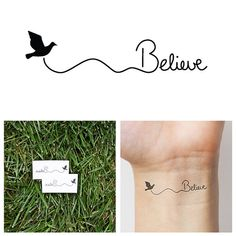 Hey, I found this really awesome Etsy listing at https://www.etsy.com/listing/120729650/believe-temporary-tattoo-set-of-2