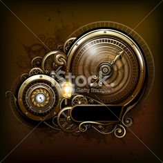 Steampunk measurement meter concept Royalty Free Stock Vector Art Illustration