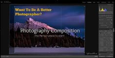 Jesse Martineau talks about photography composition in his latest video. Photography Composition, Photography Tips, Best Photographers, Latest Video, Perfect Place, Lights, Places, Blog, Pretty