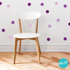 Shades of Purple Polka Dot Wall Decals