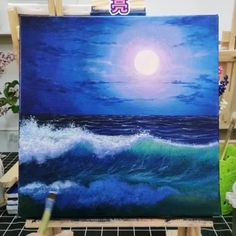 Beautiful Wave Artwork 😍😍 Great art by ID: 811369503 (Döuyin App) Tag your friends below! Canvas Painting Tutorials, Acrylic Painting Canvas, Acrylic Art, Canvas Art, Acrilic Paintings, Oil Painting For Beginners, Beginner Painting, Gouache Painting, Painting Techniques