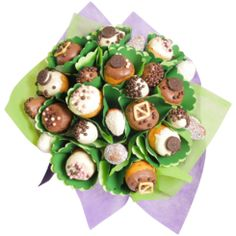 Delicious dipped donuts with an assortment of toppings send for same day delivery with Edible Blooms Luxury Chocolate, Chocolate Gifts, Chocolate Dipped Strawberries, Strawberries And Cream, Delivery Desserts, French Donuts, Strawberry Box, Donut Gifts, Valentines Day Presents