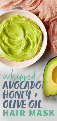 Whipped Avocado, Honey, and Olive Oil Deep Conditioning Hair Mask