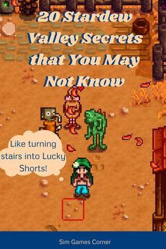 """You may think that you knew all there is to Stardew Valley but even the creator himself said that there are still secrets that have yet to be found. In """"20 Stardew Valley Secrets That You May Not Know"""" there are secrets, or glitches, that were discovered a couple months ago. Read to find out more. #stardew valley #gaming #stardewvalleyguide Sims Games, Pc Games, Stardew Valley Tips, Game Creator, All Video Games, Secret Relationship, Game Info, First Game, Simulation Games"""