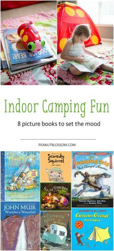Is your little one a bit shy of spending an evening outdoors camping? Why not hold an indoor camping adventure for you both instead! Check out these 8 great titles to get from the library before your next reading adventure.: