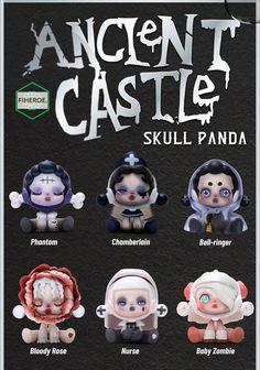 POP MART Skull Panda Ancient Castle Series Collectible Cute Skullpanda Blind box Kawaii toy figurines. Visit FIHEROE for more dynamic action figures, toys, Nendoroid, Funko Pop Vinyl, 3D printer projects, Kotobuikiya, SEGA, Megahouse, Medicos, Bandai Tamashii, ARTFX, Good Smile, Banpresto, FiGPiN, for boys, for girls, design ideas, pvc, resin, ceramic, chibi, cosbaby, miniature, art, acrylic, model, fun, best anime fiesta. Anime Chibi, Kawaii, Baby Zombie, Disney Minimalist, Castle Series, Manga Books, Anime Toys, Chibi Girl, Good Smile