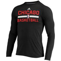 Men s adidas Black Chicago Bulls 2016 On-Court Climalite Ultimate Long Sleeve  T-Shirt 12596b593