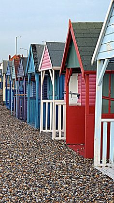 Beach Huts  Pinned from PinTo for iPad 
