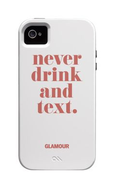 Don't Drink and Text iPhone Cover NEED THIS!