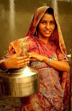 INDIA: a beautiful village women......
