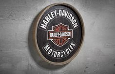 Barrel End Wooden Sign - This Harley gift is on top of my list. Shop Now.