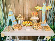 One Little Two Little Three Little Indians | Cultural | Dessert Table | Native Americans | http://babyandbreakfast.ph/2016/07/04/one-little-two-little-three-little-indians/ | Photographer: Harry Lim Photography