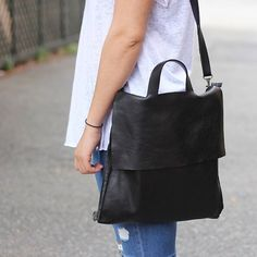 The Cluny convertible backpack by Stitch and Tickle - shown here worn as a shoulder bag